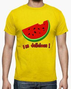 camiseta divertida sandia veranjo ilustracion ilustradas chica chico impresion digital