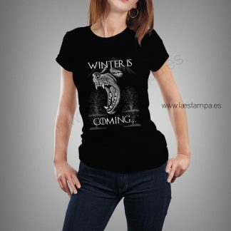 winter is coming thrones camiseta para mujer
