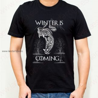 camiseta para hombre winter is coming thrones trono