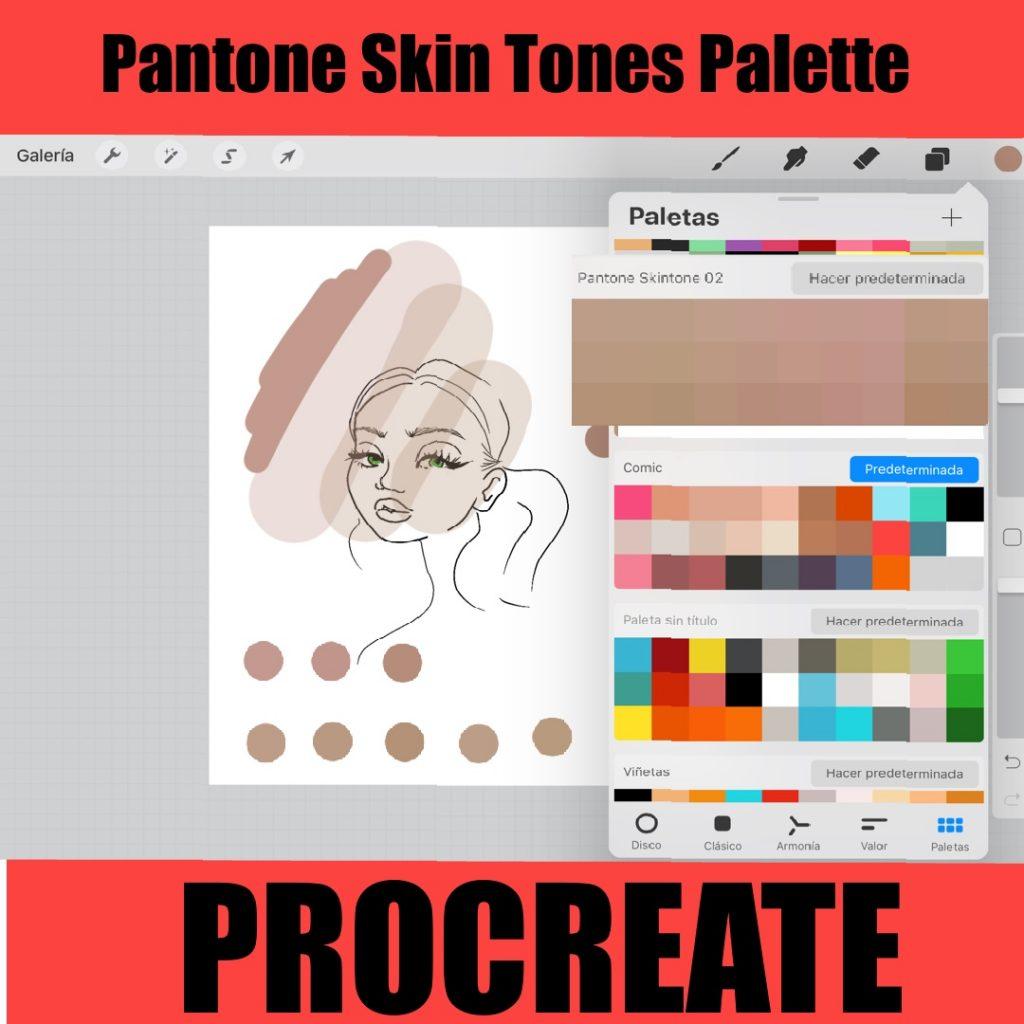procreate pantone skin tones