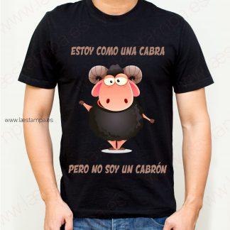 camiseta para hombre estoy como una cabra pero no soy un cabrón