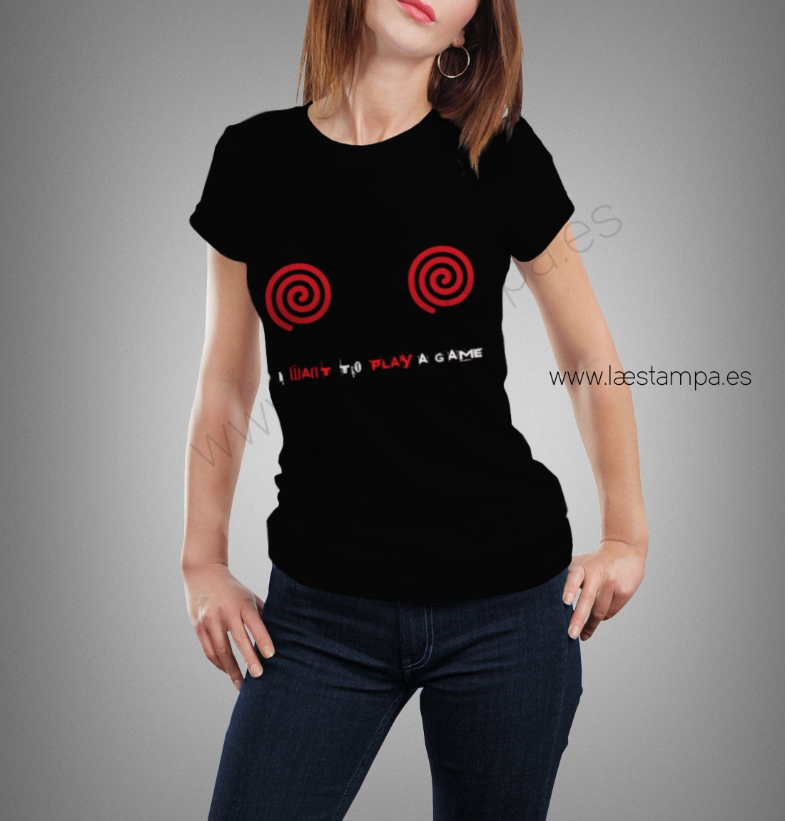 saw camiseta i want a play a game